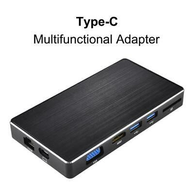 Type-c to HDMI Gigabit LAN Docking Station Hub Multi-function Converter 8-IN-1