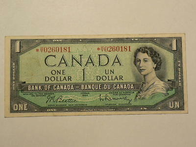 🍁 1954 Canada $1 Dollar Replacement Note * H/Y  Circ  #8806