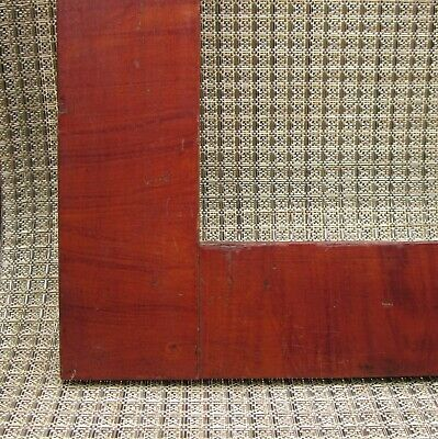c1840 American Mahogany Red Swirl Grain Painted Folk Art Primitive Fraktur Frame