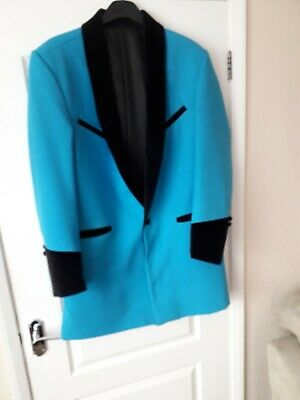 "Teddy Boy Drape Jacket Blue 42"" Chest Made By Unicorn England"