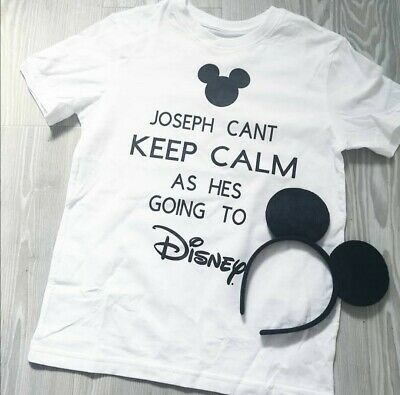 I Can't Keep Calm I'm Going To Disney Mickey Mouse Boys Top Tshirt World 2019