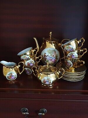 gold plated tea service