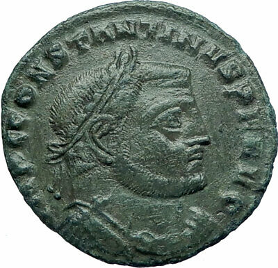 Constantine I The Great 312AD Ancient Roman Coin Jupiter Zeus with  Nike i78612