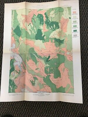 Vintage USGS Klamath Oregon 1899 Topographic and Timber Map