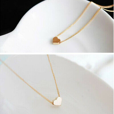 New Elegant Women Ladies Tiny Heart Shaped Pendant Chain Necklace Jewelry