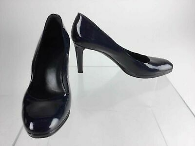 Details about GUESS Womens Size 9 Black Patent Leather Stiletto Heels; Peep Toe