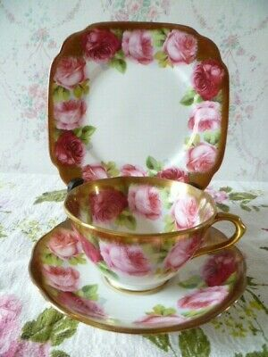 Vintage Royal Albert China Trio Tea Cup Saucer Plate Old English Rose 6241