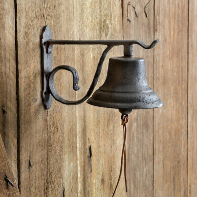 Cast Iron Dinner Bell Wall Mount Vintage Inspired Farmhouse Kitchen Schoolhouse