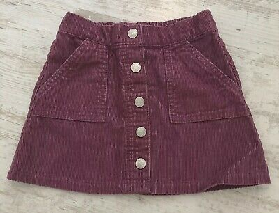 Kids F&F Pink Cord Corduroy Button Up Skirt Age 18- 24 Months