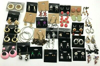 Lot of 34 Earrings - Vintage, Antique, Costume & Retro - Free Shipping