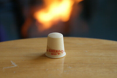 Old Vintage Advertising Thimble American Dry Cleaners Sewing Collectible