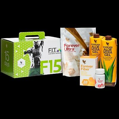 FOREVER F15 INTERMEDIATE 1-2/Chocolate/Aloe gel/Weight loss&Fitness kits /SEALED