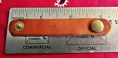LEATHER SNAP STRAP retainer holder keeper Knife Sheath Repair KABAR others 3.25""