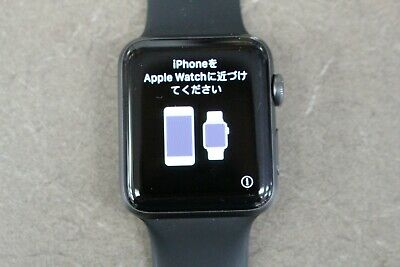 Apple Watch Series 3 42mm Aluminum Case Space Gray Back Sport Band GPS Cellular