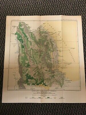 Vintage USGS Lewis and Clark Montana 1899 Topographic and Timber Map