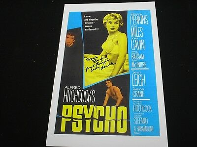 MARLI RENFRO Signed PSYCHO 11x17 Movie Poster Janet Leigh Body Double Autograph