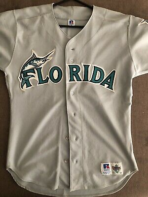 Mlb Florida Marlins Size 44 Russell Athletic Baseball Jersey Top