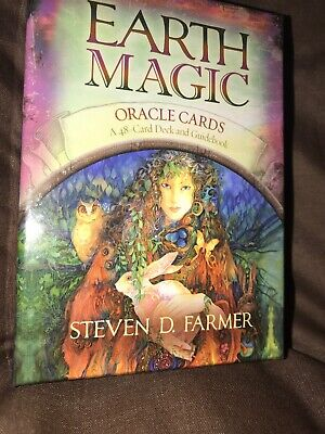 Earth Magic Oracle Cards 48 Cards Guidebook Never Used VCG Steven Farmer Magical