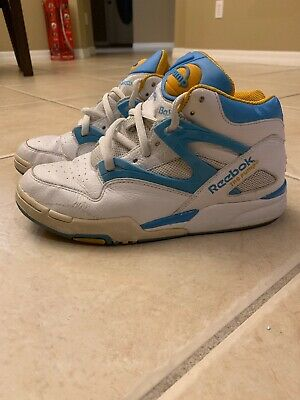 REEBOK PUMP OMNILITE Limited Edition SIZE 8 WHITE BLUE AND