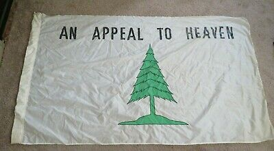 NYLON FLAG VINTAGE PARADE LONG BEACH APPEAL TO HEAVEN 1960's CRUSADERS