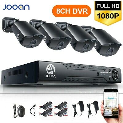 JOOAN 8CH 1080P DVR 2MP Outdoor Home Security Camera System With Hard Drive 1TB