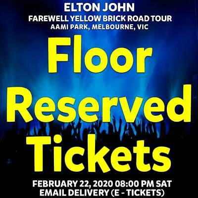 Elton John | Aami Melbourne | Floor Reserved Tickets | Sat 22 Feb 2020 8Pm