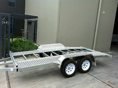 14x6.6 TANDEM CAR TRAILER BEAVER HOT DIPPED GALVANISED CHASSIS