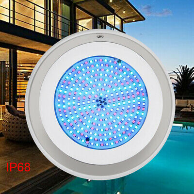 Stainless Steel 252LED Swimming Pool Lights 18W RGB 16 Modes Waterproof Spa Lamp