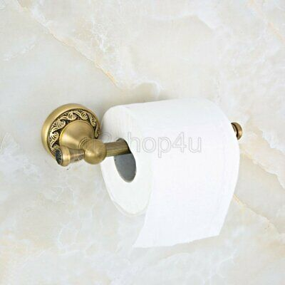 Vintage Antique Brass Wall Mounted Bathroom Toilet Tissue Paper Roll Holder