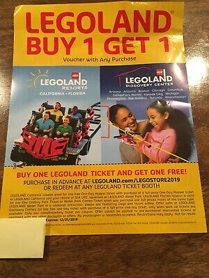 Legoland Buy 1 Get 1 Ticket Voucher California Florida Or ALL Discovery Centers