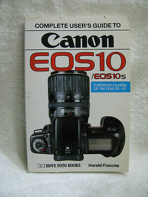 Hove Photo Books Guide to Canon  EOS10 and 10S Film Cameras/   Good Cond