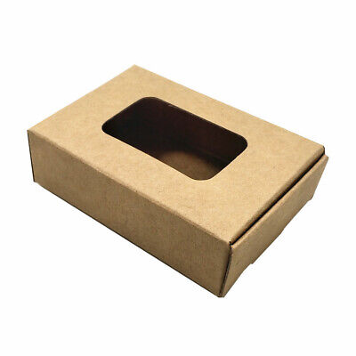 Kraft Paper Rectangle Hollow Out Boxes Crafts Soap DIY Gifts Candy Packaging Box