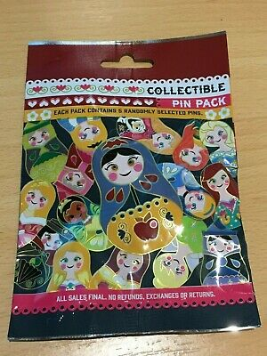 Disney pin Nesting Doll mystery blind bag 5 pins New Unopened