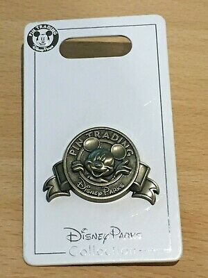 Disney parks pin trading official logo Mickey Mouse