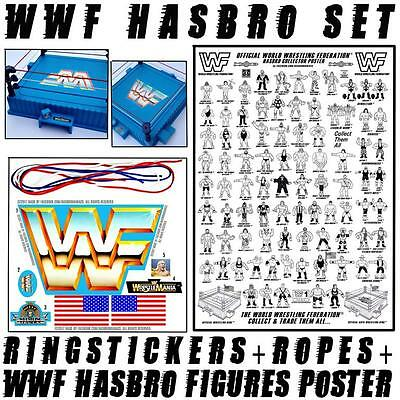 ORIGINAL HASBRO WWF WRESTLING RING ROPES  SIZED TO FIT RED WHITE /& BLUE