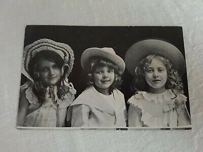 Vintage Collectible Postcard 1920s real photo unused three in hats