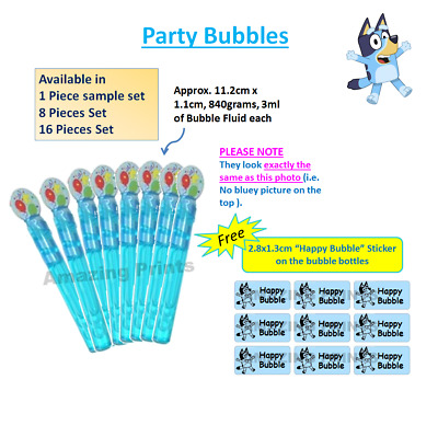 Blue bubble wand Bluey Theme birthday party loot Favour bag filler supplies Kids