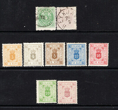 ICELAND - Officials 1873-1900
