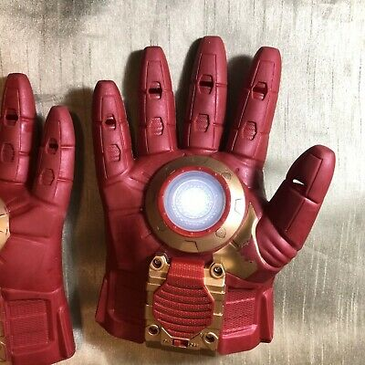Marvel Avengers Iron Man Arc FX Armor Blast Gloves For Kids Lights Sounds! WORKS