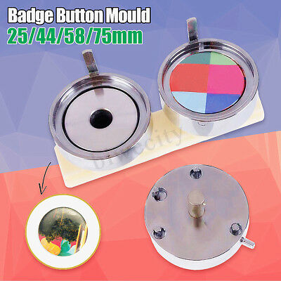 25/44/58/75mm Badge Pin Making Mould Button Maker Punch Press Machine Tool AU