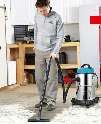 220V Blue Wet and Dry Vacuum Cleaner Industrial 20 L Dust Extractor with Blower