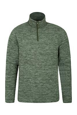 Mountain Warehouse Idris Textured Fleece Mens with Half Zip Warm & Breathable