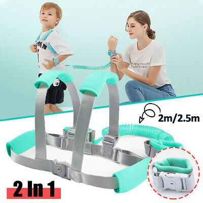 Toddler Kids Baby Anti-lost Safety Walking Harness + Wrist Link Hand Strap