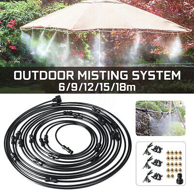 LOW PRESSURE FAN Misting System Slip Lok kit 4m hoses- 3 Brass