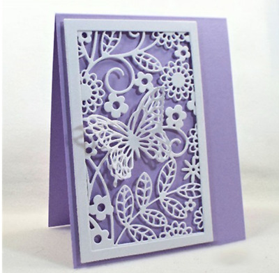 Rectangular Butterfly Background Cutting Dies Stencil Scrapbook Embossing Crafts