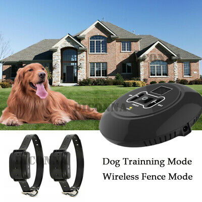 Rechargeable Wireless Dog Fence No-Wire Pet Containment System Waterproof New