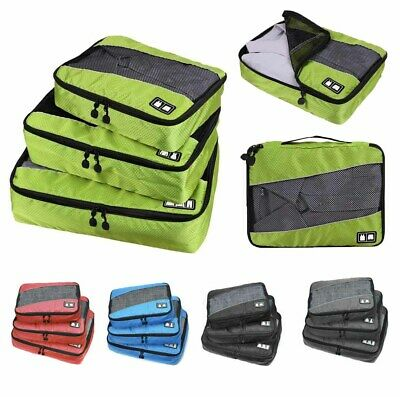 New 3 set Waterproof Compression Packing Cubes Large Travel Luggage Organizer