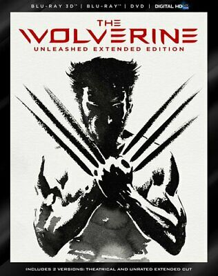The Wolverine (2013 Hugh Jackman) (2 Disc, With Blu-ray + DVD) 3D BLU-RAY NEW