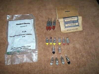 Lot Vintage Switchboard Lamps Light Bulbs 2Y 51A 52A 6ESB5 Western Electric