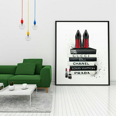 Fashion Books Wall Art Print Poster Home Decor Gift